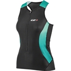 Louis Garneau Pro Carbon Women's Tri Top Black/Mojito Green/Cricket Green