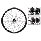 Wheel Master Origin8 TA42 SS-1101 700c Fixed Gear Black 36 Hole MSW Wheel Set