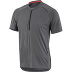 Louis Garneau West Branch Men's MTB Jersey: Asphalt Gray