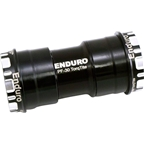 Enduro TorqTite Bottom Bracket: BB30 to 24mm, Angular Contact Stainless Steel Bearing Black
