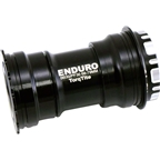 Enduro TorqTite Bottom Bracket: BBright to 24mm XD-15 Angular Contact Ceramic Bearing Black