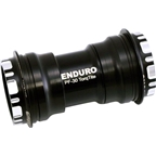 Enduro TorqTite Bottom Bracket: PF30 to 24mm, XD-15 Angular Contact Ceramic Bearing Black
