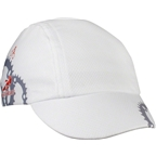 Headsweats Spin Cycle Cycling Cap: White with Gears