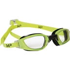 Michael Phelps Xceed Goggles: Yellow/Black with Clear Lens