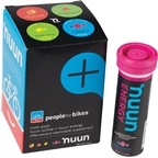 Nuun Hydration Tablets: People for Bikes Mixed Pack, Box of 4 Tubes