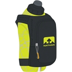 Nathan SpeedShot Plus Insulated Handheld Hydration with 12oz Bottle: Black/Yellow