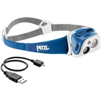Petzl TIKKA R+ Rechargeable Headlamp: Blue