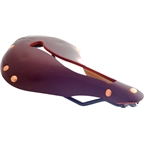 Selle Anatomica X Series Watershed Saddle: Oxblood with Copper Rivets