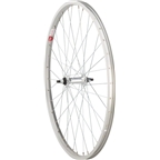 "Sta Tru Front Wheel 26 x 1.5"" Solid Thread on Axle with 36 Spokes Includes Axle Nuts, Silver"
