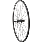 Quality Wheels Rear Wheel Value Series 700c 135mm QR 32h Shimano / Alex DC19 / DT Industry All Black
