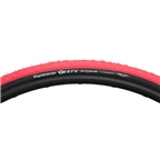 Panaracer T-Serv ProTite 700 x 25 Tire Folding Bead Red Tread Black Sidewall