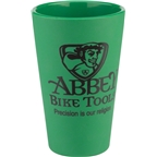 Abbey Bike Tools Silipint: Green Silicone Pint Glass