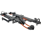 "Kuat NV 2.0 2-Bike Tray Hitch Rack: Metallic Gray and Orange, 1-1/4"" Receiver"