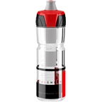Crystal Ombra 750ml Water Bottle Clear with Red Graphics
