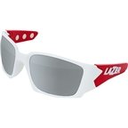 Lazer Magneto M2 Sunglassses: Gloss White/Red Frames with Three Interchangeable Lenses