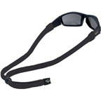 Chums Original Cotton Eyewear Retainer: Large End Black Sold Individually