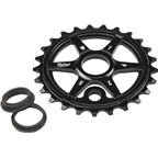 We The People Patrol Sprocket 28t Black 23.8mm Spindle Hole With Adaptors for 19mm and 22mm