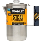 Stanley Adventure Percolator, 6-Cup (1.1qt), Stainless Steel
