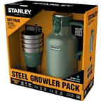Stanley Classic Vacuum Growler: Hammertone Green, 64oz and a Set of Four Stacking Tumblers
