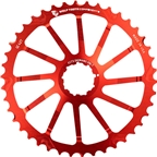 Wolf Tooth Components 40T GC cog for Shimano 11-36 10-speed Cassettes, Red
