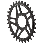 Wolf Tooth Components Drop-Stop Direct Mount Elliptical Chainring: 30T, For Race Face CINCH Cranksets, Reverse Dish, Black