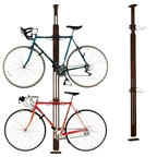 Gear Up Floor-to-Ceiling Storage/Display Rack: 2-Bike Dark Walnut