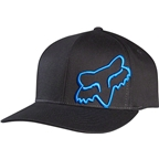 Fox Racing Flex 45 Flexfit Hat: Black/Blue