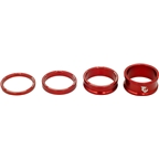 Wolf Tooth Components Headset Spacer Kit 3, 5,10, 15mm, Red