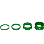 Wolf Tooth Components Headset Spacer Kit 3, 5,10, 15mm, Green