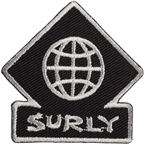 Surly Touring Patch: Black/Gray 2 x 2