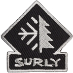 Surly Omniterra Patch: Black/Gray 2 x 2