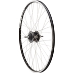 Quality Wheels Rear Wheel Value Rim 700c Bolt-on 36h Shimano Nexus 8s Black / Alex Adventurer / DT Champion Silver