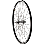 "Quality Wheels Pavement Front Wheel 26"" 36h Shimano LX / Mavic XM317 / DT Champion All Silver"