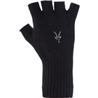 Ibex Knitty Gritty Wool Knit Fingerless Glove: Black