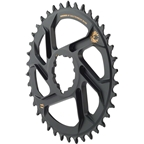 SRAM X-Sync 2 Eagle Chainring 38T Direct Mount 6mm Offset Black with Gold Logo BB30 or GXP