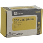 "Q-Tubes 700c x 35-40 (27 x 1-3/8"") Value Series 48mm Presta Valve Tube"