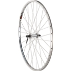 """Quality Wheels Front Wheel Road Rim 27"""" 100mm QR 32h Shimano Hub / Sun CR-18 Polished / DT Industry Silver"""