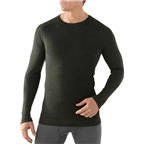 Smartwool Midweight Crew Men's Long Sleeve Base Layer Top: Olive Heather