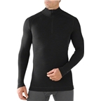 Smartwool Midweight Zip Men's Long Sleeve Base Layer Top: Black