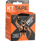 KT Tape ProX Kinesiology Therapeutic Body Tape: Box of 15 Patches, Jet Black