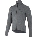 Louis Garneau Power Wool Men's Long Sleeve Jersey: Asphalt Gray