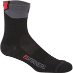 Louis Garneau Merino 60 Men's Socks: Black/Gray