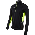 Pearl Izumi Pursuit Wind Thermal Top: Black/Screaming Yellow