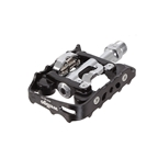 Wellgo WPD-M17C Clipless/cage Pedals, Black/black