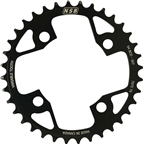 North Shore Billet Variable Tooth Chainring: 36T, Standard 94 x 4 BCD, Black