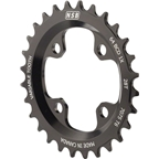 North Shore Billet Variable Tooth Chainring: 28T, Standard 64 BCD, Black