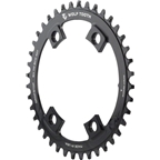 Wolf Tooth Components 38T Drop-Stop Chainring: for Shimano Road 110 Asymmetric 4-bolt Cranks, Black