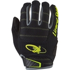 Lizard Skins Monitor AM Gloves: Jet Black/Neon