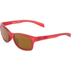 Native Highline Sunglasses: Red Frost With Bronze Reflex Lens