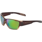 Native Wolcott Sunglasses: Stout Fade With Green Reflex Lens